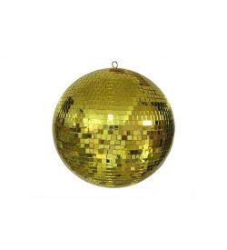 "CSL 20"" Gold Mirror Ball Rental"